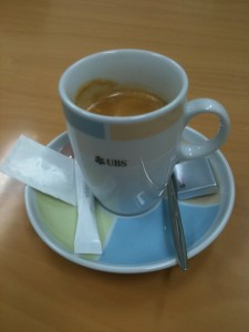 One of  best part of my first UBS interview - the coffee.