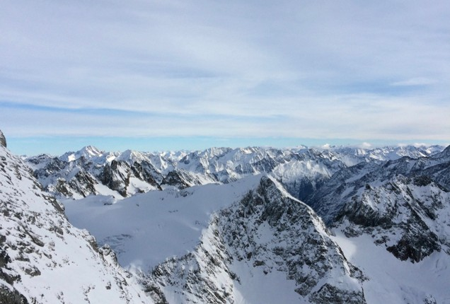 alpine view from the Engelberg/Titlis Cliff Walk