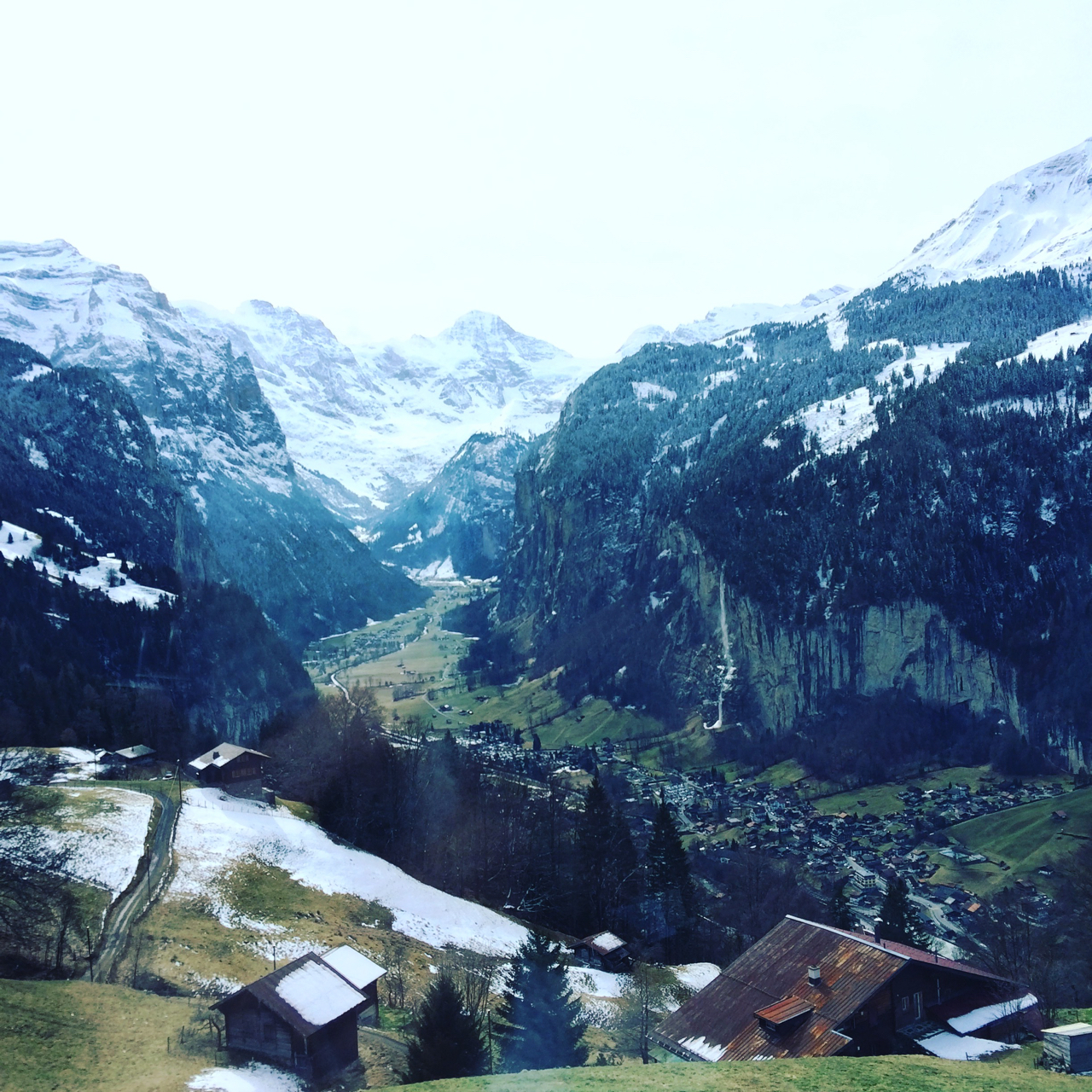 looking down on Lauterbrunnen