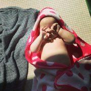Reese post-swim
